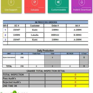 Daily production status report template excel template124 daily dispatch report template excel pronofoot35fo Gallery