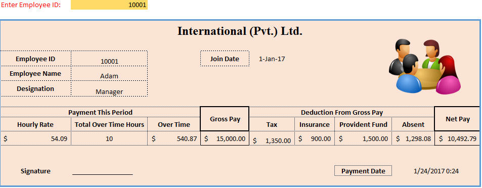 3 Sample of Payslip Philippines Format Template124