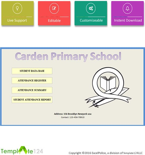 Monthly School Attendance Report Template Excel 2017 – School Attendance Template
