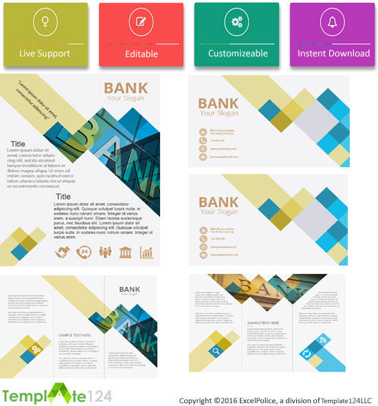 Customize Finance Bank Company Profile Template | Template124