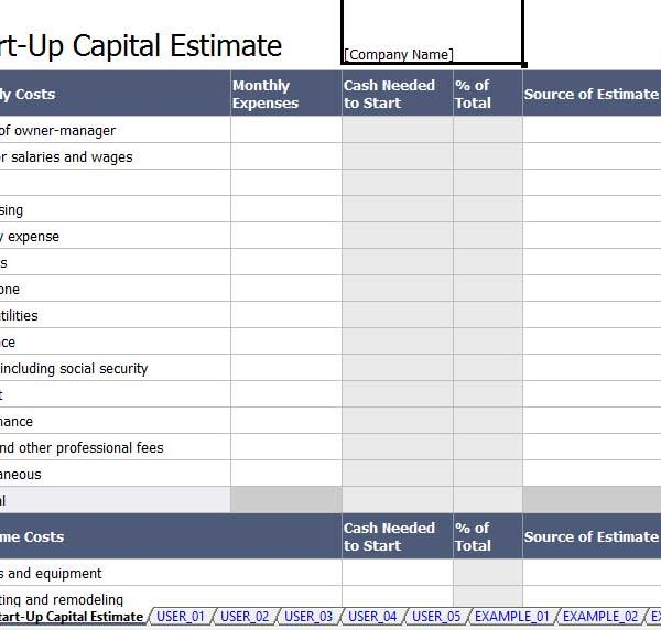 5 Capital Expenditure Budget Template Excel – Expenditure Template