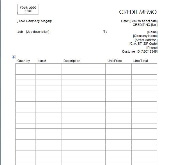 Best Credit Note Template Excel  WordPdf  Template