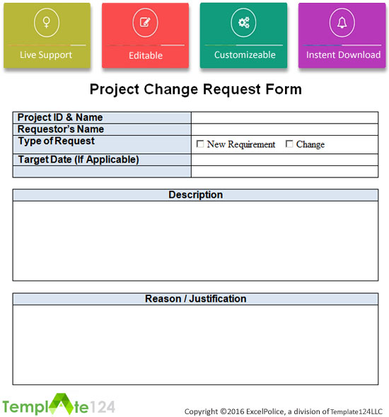 project change request template excel word template124