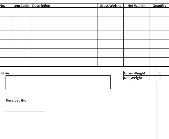 Goods Received Note Template Excel  Template