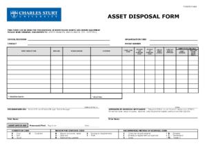 Scrap Disposal Form Template