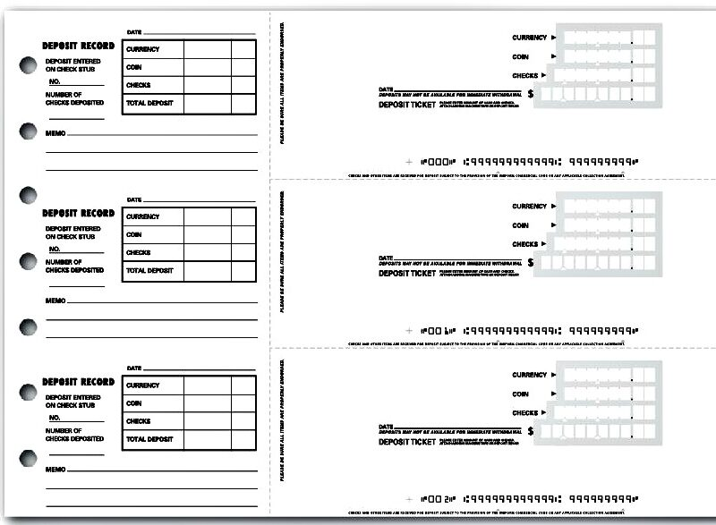 Deposit Slip for Students
