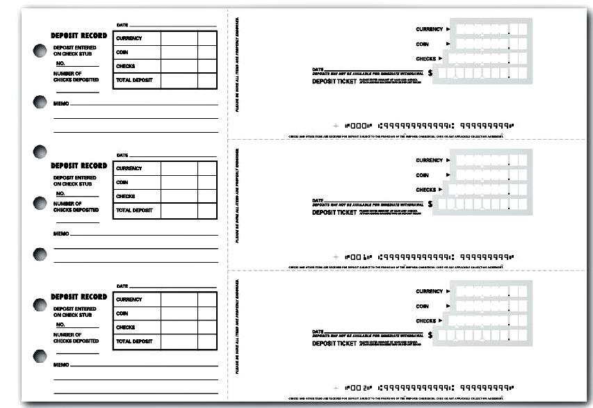 4 printable bank deposit slip template excel template124 for Checking deposit slip template