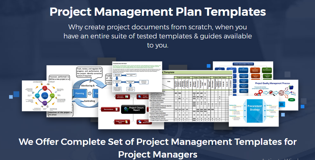 Project Management Plan Template PMbok 5
